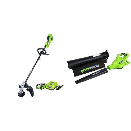Greenworks Digi Pro GMax Cordless 24322 Blower Vacuum Battery and Charger