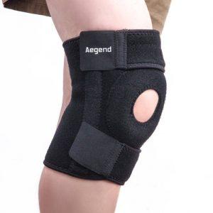 Aegend Sport Elastic Neoprene Open Patella Knee Brace Sleeve